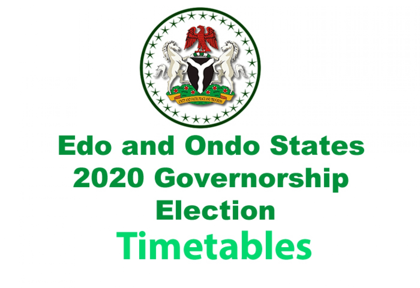 Edo and Ondo States 2020 Governorship Election Schedules
